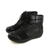 Kimo 短靴 黑色 格紋 女鞋 K18WF087173 no789