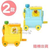 〔小禮堂〕拉拉熊 懶懶熊 火車造型削鉛筆機《2款隨機.藍黃/橘黃》盒裝.削筆器 8802035-11448