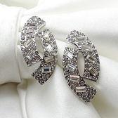 耳環 玫瑰金 925純銀鑲鑽-時尚百搭情人節生日禮物女飾品2色73gs49[時尚巴黎]