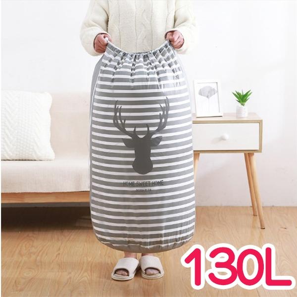 收納用品 韓系可愛印花棉被袋-130L 【BNA117】123OK