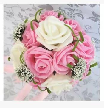 [協貿國際]新娘手捧花24朵玫瑰