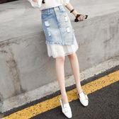 【618好康又一發】網紗拼接半身裙夏季新款韓版女裝百搭