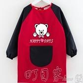 兒童罩衣防水長袖反穿衣寶寶罩衣男孩女孩繪畫吃飯圍裙幼兒園訂製