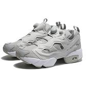 REEBOK 休閒鞋 INSTA PUMP FURY 灰白 經典 襪套 充氣 情侶 男女 (布魯克林) DV6988