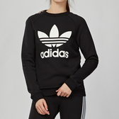 Adidas Originals 女款 黑色 大LOGO 衛衣 長袖 上衣 DV2612