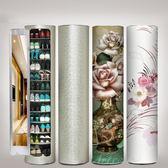 智能消毒殺菌創意360度大容量旋轉鞋柜簡約現代門廳柜圓形玄關柜  YTL
