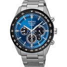 SEIKO 精工 Criteria 極速風暴太陽能計時碼錶-藍/42mm V175-0DK0B(SSC465P1)