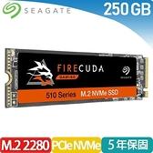 Seagate 火梭魚【FireCuda 510】250GB M.2 2280 PCIe固態硬碟