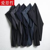 夏季薄款中年男褲40-50歲中老年人休閒褲寬鬆長褲西褲爸爸裝褲子 免運