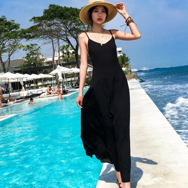 Qmigirl 夏天出行馬爾地夫顯瘦巴厘島海邊度假超仙波西米亞泰國長裙 連身裙【WT1585】