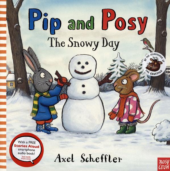 【麥克書店】PIP AND POSY:THE SNOWY DAY /英文繪本《主題: 友誼》內附QR code