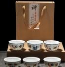 斗彩雞缸杯茶杯陶瓷手工