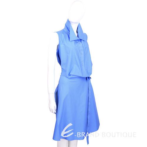 PLEIN SUD FAYCAL AMOR 藍色側綁帶設計無袖洋裝 1420128-27