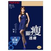 nonno儂儂 50D雙包紗顯瘦透膚褲襪(98193) 1入 膚色/黑色【BG Shop】2色供選