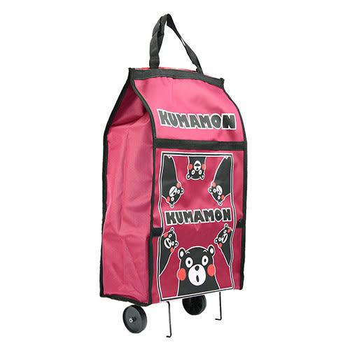 【KUMAMON 熊本熊】購物拖輪袋(紅) / 購物袋 /摺疊袋 NO-26