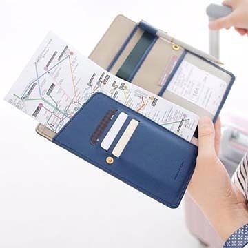 韓版 法蒂希 防消磁皮面護照套 旅行多功能中長款男女護照夾【現貨+預購 不挑款出貨】