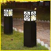庭院燈 草坪燈太陽能草地燈方形復古庭院燈