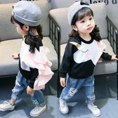 兒童上衣 韓版女童裝春裝新款兒童長袖T恤女寶寶打底衫上衣1-2-5歲【韓國時尚週】