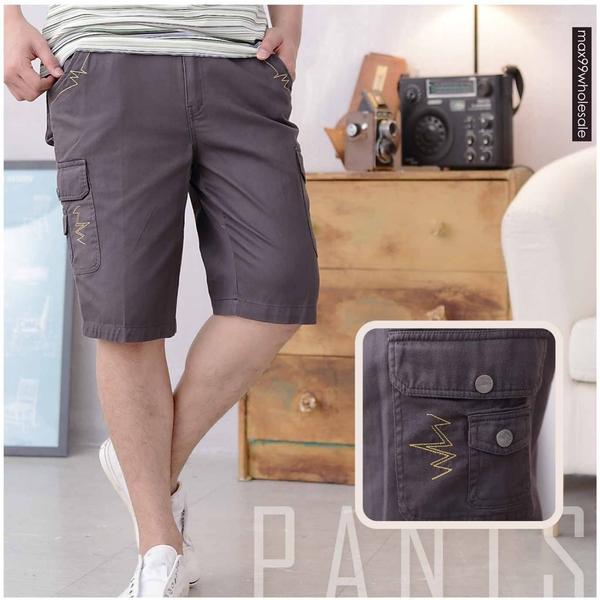 【大盤大】(A367) 夏 100%純棉短褲 五分褲 男 薄款 工作褲 美式 多口袋 素色 工裝褲【剩L號】