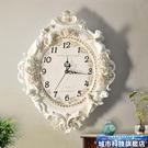 掛鐘 歐式客廳創意時尚藝術裝飾掛鐘靜音臥室時鐘大掛鐘錶天使石英鐘錶 城市科技