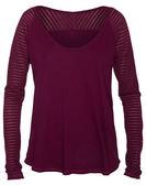 Hurley 女生長袖針織衫 - 酒紅