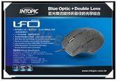 新竹【超人3C】INTOPIC廣鼎 MS-BL072 飛碟藍光滑鼠 可切換1000/1600 CPI 藍光LED
