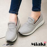 懶人鞋韓奢華水鑽百搭舒適厚底包鞋