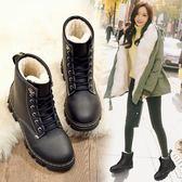 2019新款馬丁靴女英倫保暖學生韓版棉鞋百搭加絨冬季雪地鞋子短靴