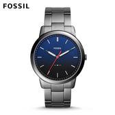 ↖400折價券 現領現折↘ FOSSIL Minimalist 個性灰低調不鏽鋼手錶 男