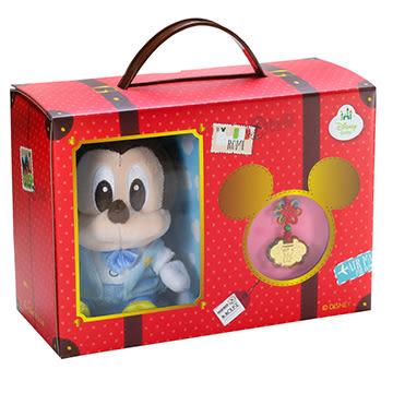 迪士尼系列金飾-彌月金飾禮盒-琉璃米奇款(玩偶禮盒)