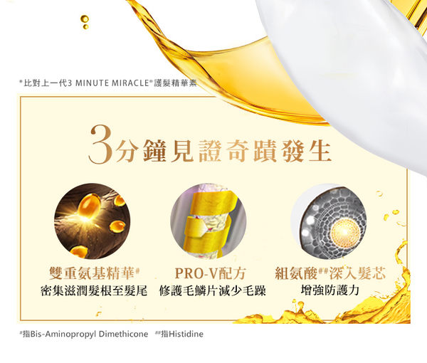 潘婷 3 MINUTE MIRACLE 多效 護髮 精華180ml - P&G寶僑旗艦店