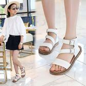 女童涼鞋兒童公主時尚甜美可愛中大童寶寶沙灘鞋 DN8699【野之旅】