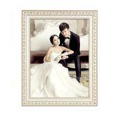 實木相框掛墻歐式婚紗照相框創意擺臺畫框   夢曼森居家