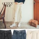 Queen Shop【04011369】雙釦牛仔蘿蔔褲 三色售 S/M/L/XL*現+預*