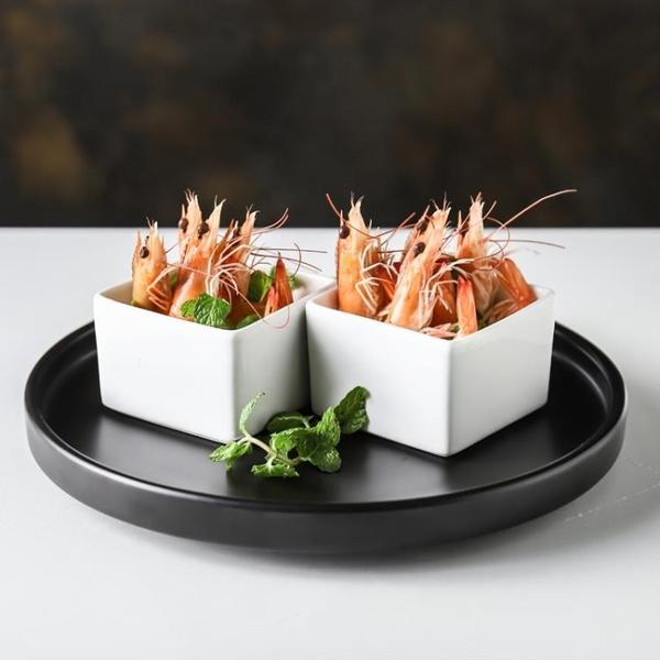 小方盅酒店抖音網紅方杯創意餐具意境特色個性涼菜分子料理調料盤 熊熊物語
