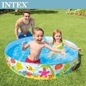 【INTEX】免充氣幼童戲水游泳池152x25cm(56451)