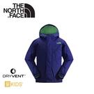 【The North Face 男童 DryVent防水外套《標幟藍》】AQRC/防風外套/透氣/輕量