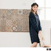 《DA6215-》高含棉拼接格紋小澎袖洋裝 OB嚴選