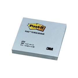 3M 654 可再貼便條紙 75x75mm