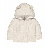 mothercare 白針織刷毛連帽外套-探險系列(M0QD814)9~24個月