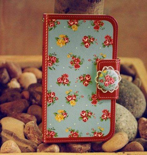 韓國代購MR.H三星note3 N9008 N9006田園小花保護皮套S5手機殼-harry70302