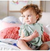【好康618】2018嬰幼兒女童夏裝哈衣寶寶糖果色連身衣