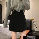 裙子 黑色毛呢半身裙女秋冬季短裙2020新款高腰裙子 包臀百搭顯瘦裙子  【全館免運】