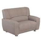 【采桔家居】安彼 時尚灰耐磨皮革機能雙人座沙發(2人座)