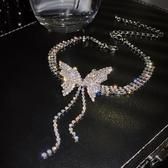 項鏈女氣質耳環蝴蝶頸鏈鎖骨鏈【愛物及屋】