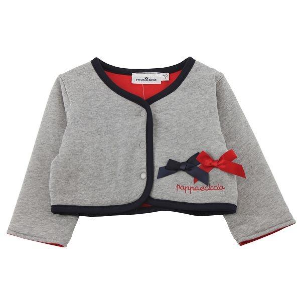 【愛的世界】純棉英格蘭兩面穿長袖小外套/1歲-台灣製- ★秋冬外套
