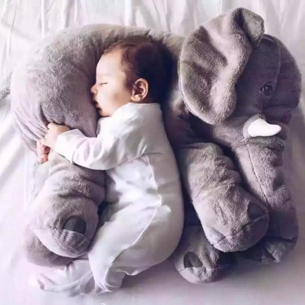 大象安撫抱枕頭毛絨玩具公仔嬰兒玩偶寶寶睡覺陪睡布娃娃生日禮物  優拓