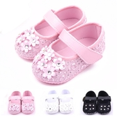 娃娃鞋 小花朵 寶寶鞋 學步鞋 軟底防滑嬰兒鞋 (11.5-12.5cm) MIY1583 好娃娃
