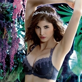 LADY 夢幻城堡系列 刺繡深線內衣 B-F罩(神秘紫)