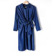 【MASTINA】牛仔綁帶洋裝-藍 好康限時